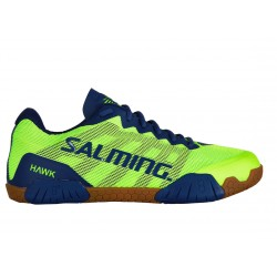 SALMING Hawk Men Shoe FluoGreen/LimogesBlue 6,5 UK, 40 2/3 EUR
