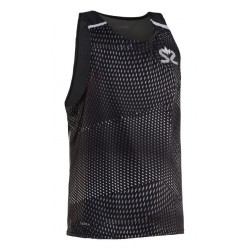 Breeze Tank Men Black AOP/Black Melange