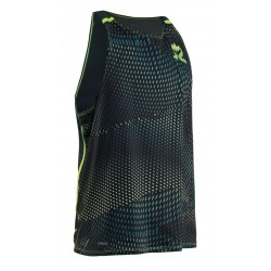 Breeze Tank Men Sharp Lime AOP/Deep Teal Melange