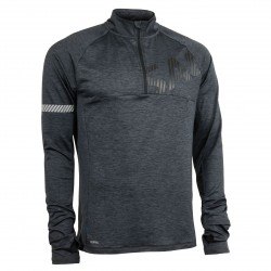 Phase Halfzip Men Dark Grey Melange