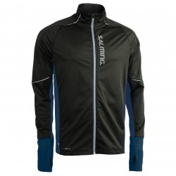 Thermal Wind Jacket Men Black/Blue Melange