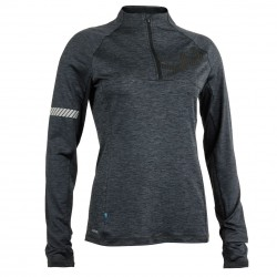 Phase Halfzip Women Dark Grey Melange