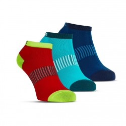 Performance Ankle Sock 3p Blue/Red/Lapis