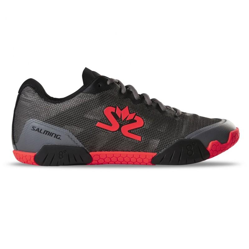Salming Hawk Shoe Men GunMetal/Red