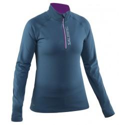 Running Halfzip LS Women Storm Blue