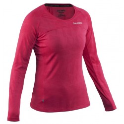 Running Long Sleeve Top Women Bright Rose