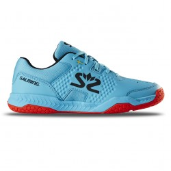 Salming Hawk Court Shoe Jr Blue/Red
