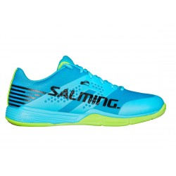 SALMING Viper 5 Men Shoe Blue Atol/New Fluo Green 9 UK, 44 EUR