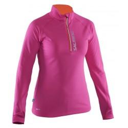 Running Halfzip LS Women Pink