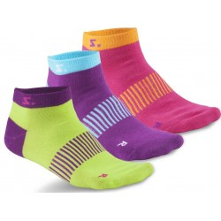Running Ankle Sock 3-pack Lime Mix