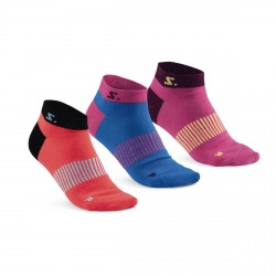 Running Ankle Sock 3-pack Diva Pink Mix