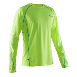 Salming LS Tee Men Safety Yellow/Ceramic Green