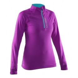 Halfzip LS Tee Women Purple