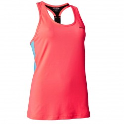 T-back Tanktop Wmn Coral/Light Blue