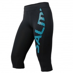 Capri Logo Tights Wmn Black/Light Blue