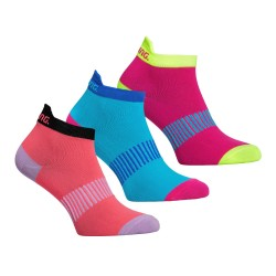 Performance Ankle Sock 3-pack Coral/Mixed