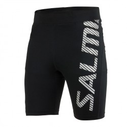 Power Logo Tights Men Black/Silver Reflective