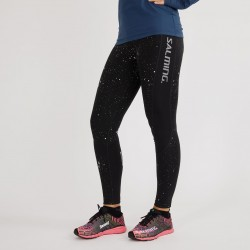 Reflective Tights Women Black/ Silver Reflective