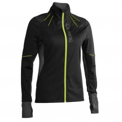 Thermal Wind Jacket Women Black/Black Melange