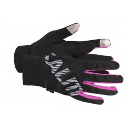 Running Gloves Black/Pink Glo