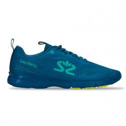 Salming enRoute 3 Shoe Men Digital Teal Blue/Bio Lime