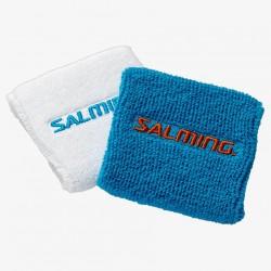 SALMING Wristband Short 2-pack White/CyanBlue